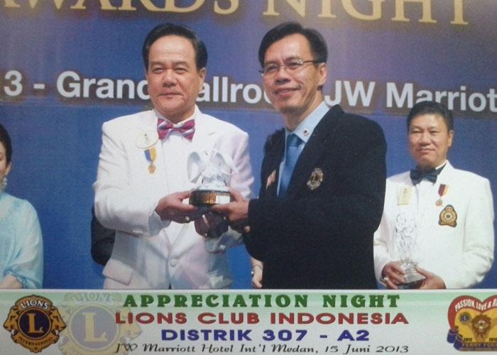 Appreciation from District Governor LCI, Dist-307A2